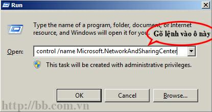 control /name Microsoft.NetworkAndSharingCenter