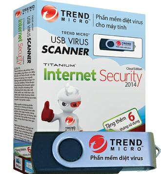 USB diệt virus cứu hộ Trend Micro USB Virus Scanner + Internet Security